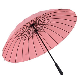 The United States and the amount of 24 water flowering sunny umbrella creative woman long handle wind umbrella M5013 leather pink