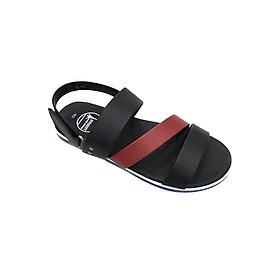 Giày Sandal 3 Quai Ngang Nam Everest - Eve01 D55 (Đen Phối Đỏ)