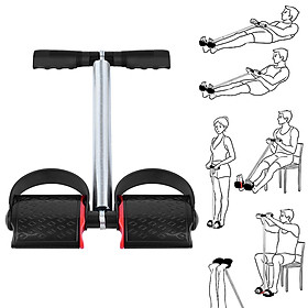 5 PCS Fitness Set with Spring Pedal Puller Waist Twist Board Hand Grip Adjustable Jump Rope for Home Office Gym-1