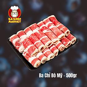Thịt Ba Chỉ Bò Mỹ - 500gr