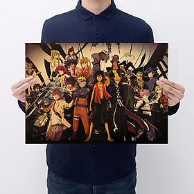 Tranh poster treo tường tấm áp phích hỗn hợp các loại chuyện tranh Naruto, one Piece [ C072 ]