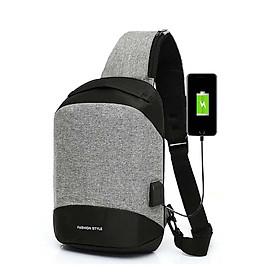 Túi đeo chéo cao cấp cổng sạt USB Chager phản quang KD32 Shalla Tặng cáp sạt