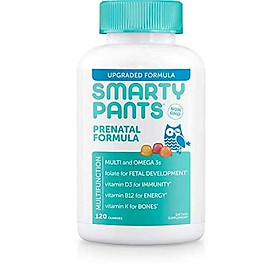 SmartyPants Prenatal Formula Daily Gummy Vitamins: Gluten Free, Multivitamin, Folate (Methylfolate), Omega 3 (Dha/Epa), Fish Oil, Methyl B12, Vitamin D3, 80 Count (20 Day Supply) - Packaging May Vary