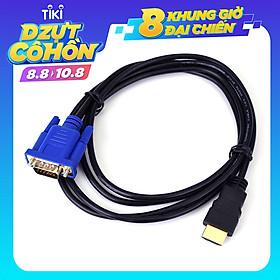 Dây cáp chuyển 1.8M HDMI sang VGA HD 1080p bộ chuyển laptop và PC