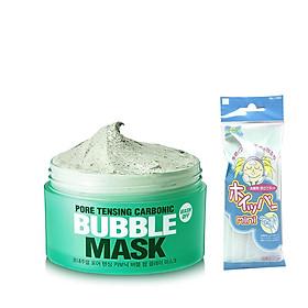 Mặt Nạ Sủi Bọt Thải Độc, Làm Sạch Sâu So Natural Pore Tensing Carbonic Bubble Mask 130g + Tặng 1 Túi Lưới Rửa mặt Tạo Bọt
