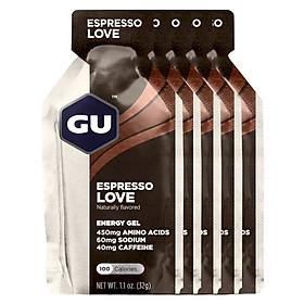 Gel năng Lượng GU Energy Vị Cafe Espresso - combo 5 gói