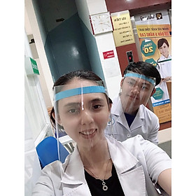 Kính che mặt trong suốt-chống dịch bệnh-chống giọt bắn-chống bụi bảo vệ sức khỏe-nhựa meka cao cấp,trong suốt Không chóa