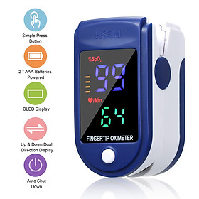 Máy đo nồng độ Oxy trong máu SpO2 bằng đầu ngón tay, màn hình đo nhanh, chuẩn xác