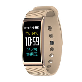 Bluetooth Smart Wristband Portable 90mAh Touch Screen Heart Rate Monitor Pedometer