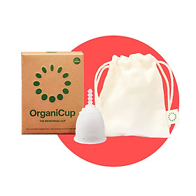 Cốc nguyệt san OrganiCup Đan Mạch - Size Mini - 100% silicone cấp Y tế - Chứng nhận FDA, Allergy, Vegan - không chất tạo màu, mùi.