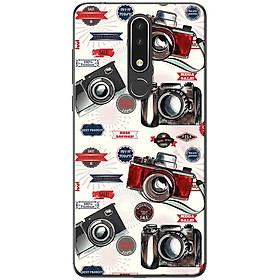 Ốp lưng dành cho  Nokia 3.1 Plus  mẫu Máy ảnh đen đỏ