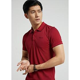 Áo phông có cổ nam BILUXURY màu đỏ đô (APCB028DOM)