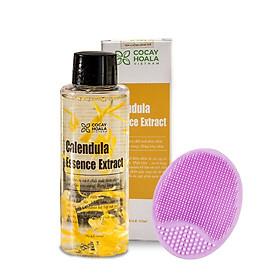 Nước thần hoa cúc 2in1 Calendula Essence Extract- Sáng da, cấp ẩm, se khít lỗ chân lông Cocayhoala 100ml kèm miếng Pad rửa mặt giúp sạch sâu