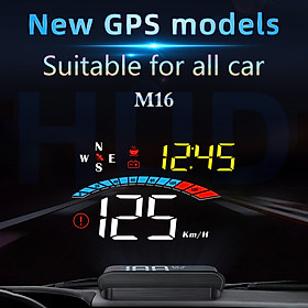 Car HUD Display, GPS Head Up Display Windshield Projector with Speed, Digital Clock, Overspeed Warning, Mileage