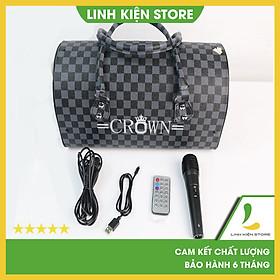 Loa Crown TTD-801, Bass 2, 5 tấc, tặng kèm micro - Hàng Nhập Khẩu