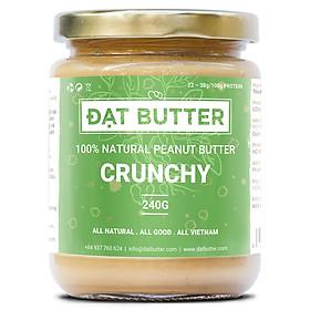 Bơ Đậu Phộng Nguyên Chất Có Hạt Đạt Butter (240g)