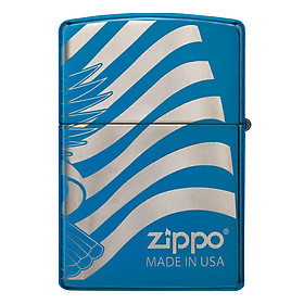 Bật Lửa Zippo 49046 – Zippo Patriotic Design High Polish Blue