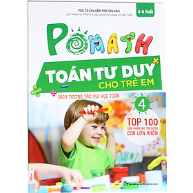 Combo Bộ Sách POMath Toán Tư Duy Cho Trẻ Em 4 Đến 6 Tuổi Và Bộ Học Liệu Đi Kèm (Học Kèm App MCBooks Application)