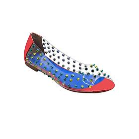 Giày Búp Bê Hở Mũi Quai Trong Gắn Đinh Tán Sulily B04-IV17DO