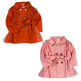 Áo khoác Măngto phối voan cho bé gái hàng Quảng Châu form lớn từ 20 đến 35 kg 01754-01755(2)
