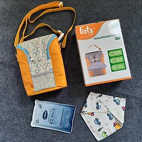 Túi giữ nhiệt ấm/lạnh fatzbaby (chứa được 2 bình sữa) + tặng 1 đá khô Unimom và 1 khăn giữ ấm cổ bé
