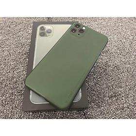 Ốp lưng Memumi cho iPhone 11 Pro Max 6.5 siêu mỏng 0.3 mm (xanh rêu) - Hàng nhập khẩu