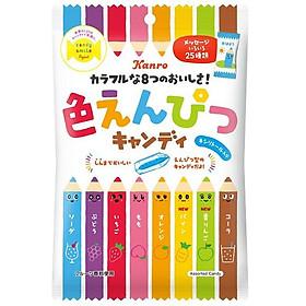 Kẹo hoa quả KANRO sắc màu hình bút chì 80g - hàng nội địa Nhật Bản