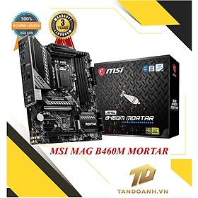BO MẠCH CHỦ MSI MAG B460M MORTAR SOCKET 1200 - Dành co Intel thế hệ 10 - CHÍNH HÃNG