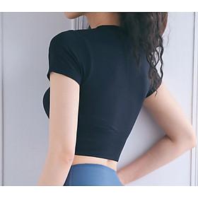Áo Tập Thể Thao Nữ, Áo Tập Gym Yoga Chạy Bộ Croptop Ôm Body MISSHIN Bo Eo Tôn Dáng-1
