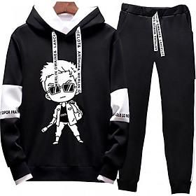 Bộ quần áo hoodie nam ArcticHunter, thời trang trẻ, phong cách Hàn Quốc, thương hiệu chính hãng