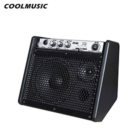COOLMUSIC DM20 20W Electric Drum Amplifier Keyboard Amp Wireless BT Speaker 2-Band EQ Supports USB MP3 Player Function