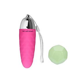 Trứng rung tình yêu màu hồng vay cá - có thể làm móc chìa khóa ngộ nghĩnh - chất lượng silicon mịn - nhựa ABS an toàn sử dụng tặng xí ngầu tình yêu 12 động tác phát sáng trong đêm