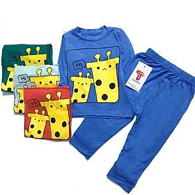 Bộ dài tay cotton thun lạnh , bộ quần áo trẻ em cho bé sơ sinh tới 22 kg QATE 19; quần áo trẻ em cotton thun lạnh từ 5-22kg
