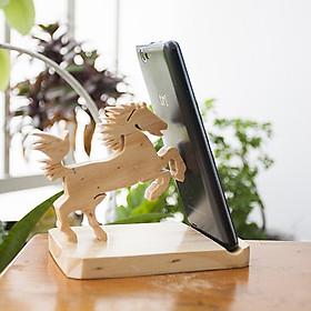 Đế gỗ để điện thoại iPad CON NGỰA - BỘ 12 CON GIÁP