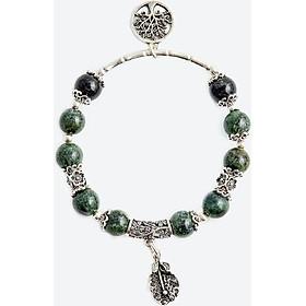 Vòng tay thạch anh ưu linh charm cây bạc Ngọc Quý Gemstones