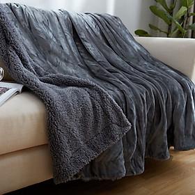 Chăn lông cừu Ultimate hàng xuất dư - màu ghi đen