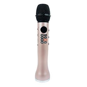 Micro Karaoke Bluetooth Âm Thanh Hay Cao Cấp Ghi Âm PKCB167 Pink Golden - Hàng Chính Hãng