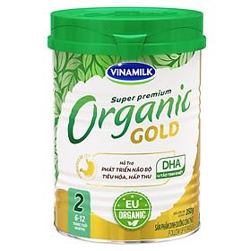 Sữa Bột Vinamilk Organic Gold Step 2 (350g / Hộp Thiếc)