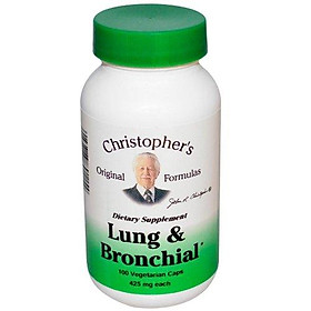 Dr. Christopher's Unisex Lung & Bronchial Formula Vegetarian Capsules 100 count 425mg each
