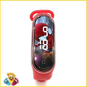 Đồng hồ trẻ em Silicon nhiều màu, đồng hồ điện tử thông minh cho bé E132 - Người nhện