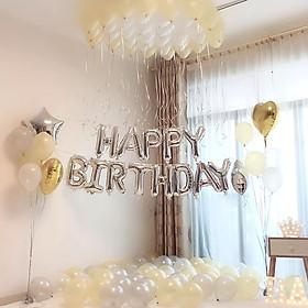 set bong trang trí sinh nhật happy birthay kèm bóng nhũ tặng bơm keo 002