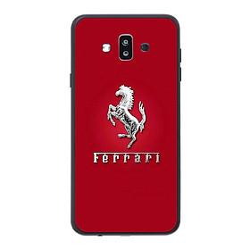 Ốp lưng dành cho điện thoại Samsung Galaxy J7 Duo in họa tiết Logo F E R R A R I