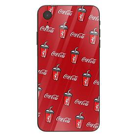 Ốp kính cường lực in họa tiết Những cốc nước cocacola đỏ rực - KRCD0021 cho điện thoại iPhone XR