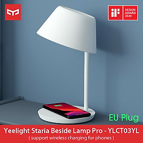 Xiaomi Yeelight Staria Bedside Lamp Pro YLCT03YL With Qi Wireless Charge Station Desktop Lamp 2700K-6500K Night Light