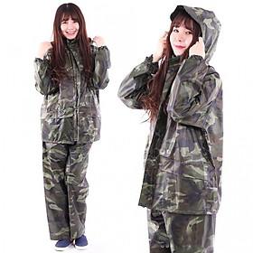 Bộ quần áo mưa rẳn ri vải dù