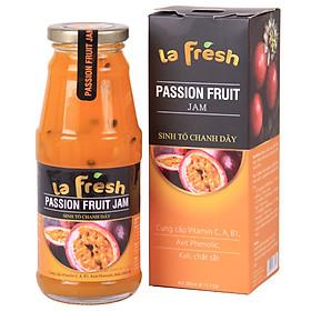 Sinh tố Chanh Dây nguyên chất Lafresh, Chai thủy tinh 350ml, Đặc sản Đà Lạt, ngon, dễ uống, vị thanh mát nhẹ nhàng, có lợi cho sức khỏe,  nhanh chóng và tiện lợi