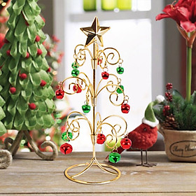 12*12*28cm Desktop Miniature Christmas Tree Wrought Iron Artificial Christmas Tree For Home Office