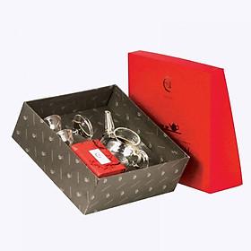 Hộp Cát Tường (hộp quà tặng Trà Việt) - Bộ đối ẩm thủy tinh trà Hồng Trà