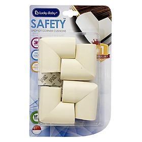 Vĩ 4 miếng xốp che góc bàn an toàn Safety spongy corner cushions Lucky Baby