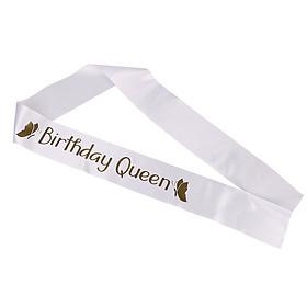 Phụ kiện sinh nhật băng đeo chéo Birthday Queen